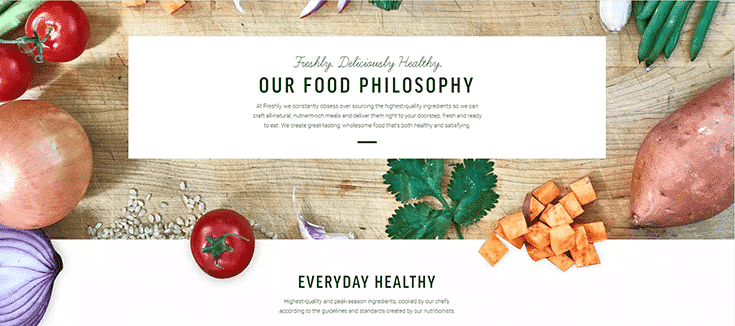 Freshly's Food Philosophy