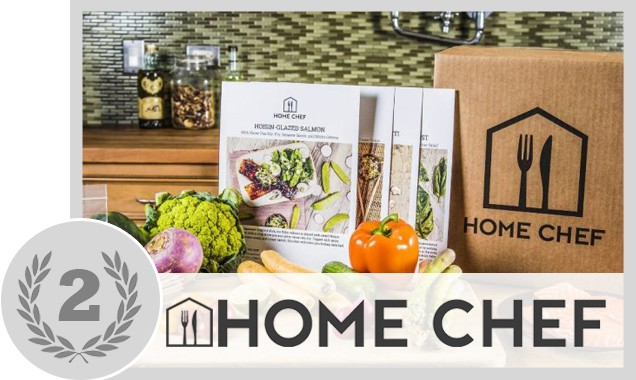 Different recipes and a box from Home Chef
