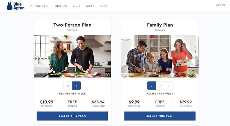 Two person plan and family plan