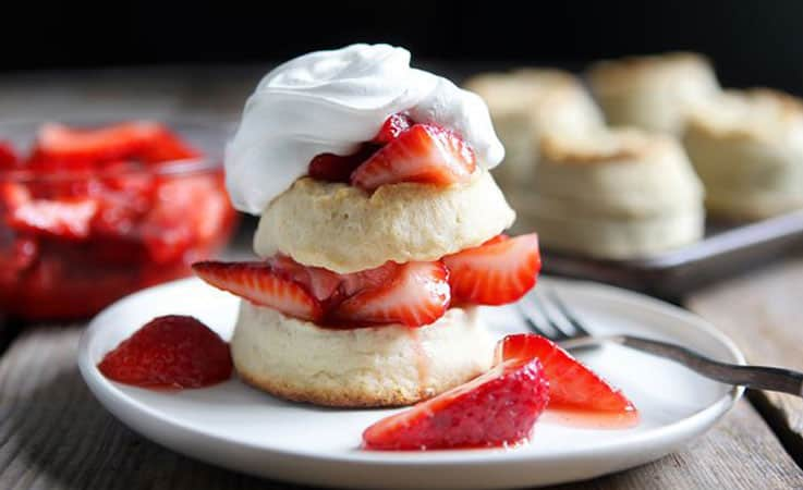 shortcake with strawberries