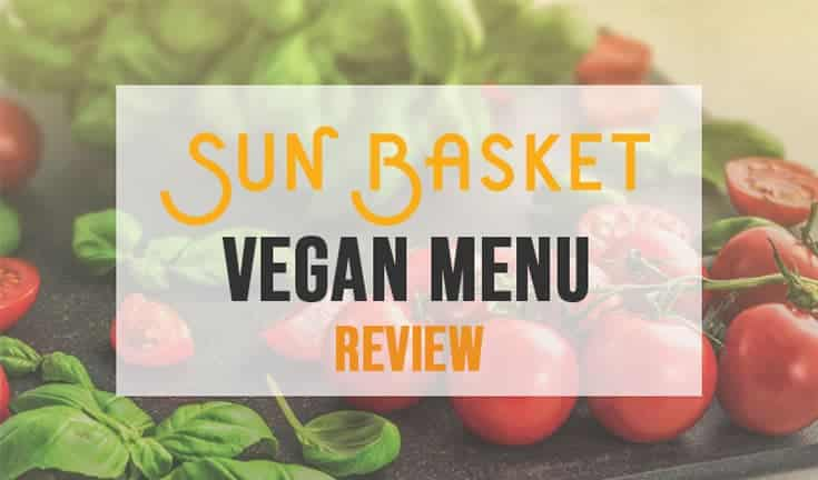Review page for Sun Basket vegan meal plan