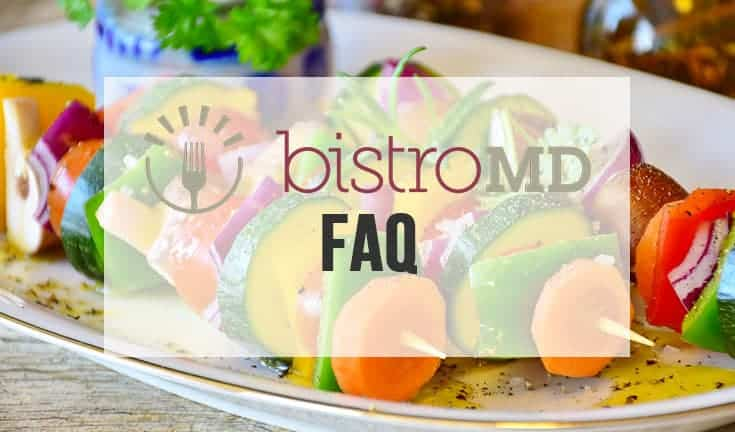 Kebab serving as background for BistroMD FAQ page