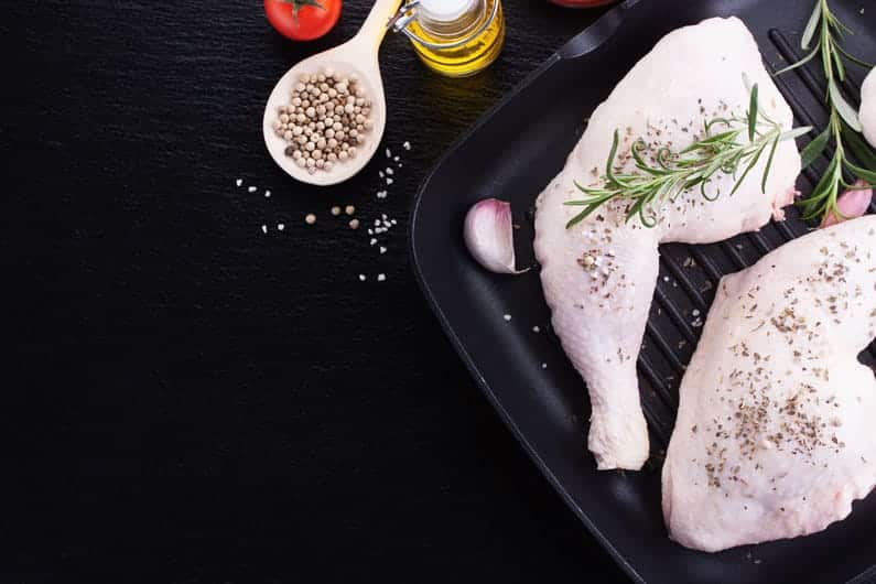 Image Of Raw chicken legs with herbs
