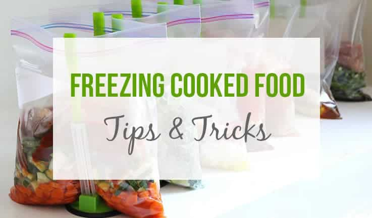freezing cooked meals