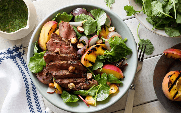 image of grilled steak salad
