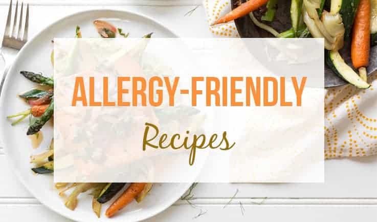 Allergen-free meals as background for the recipes header