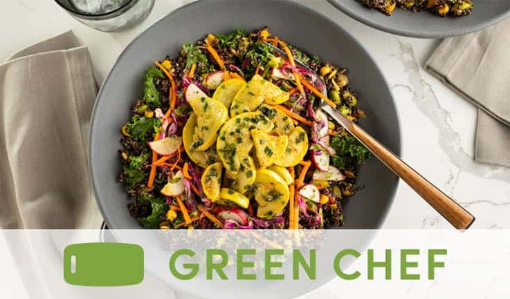 Bowl of Vegetable salad from Green Chef
