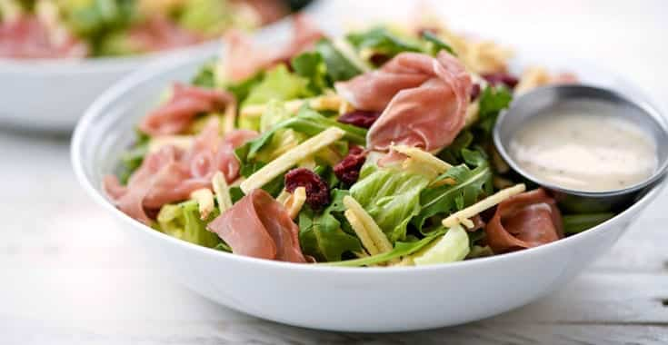 image of Prosciutto and Dried Fruit Bowl
