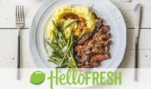 Plate of Stake with Mashed Potato from Hello Fresh