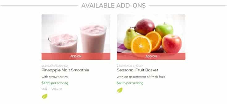 smoothies and fruit baskets
