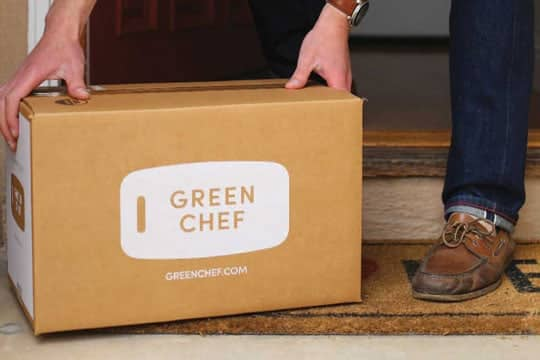 Delivered Green Chef box