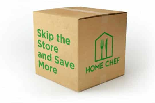 Side view of the Home Chef box