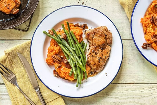 Maple Glazed Pork Chops meal from Hello Fresh