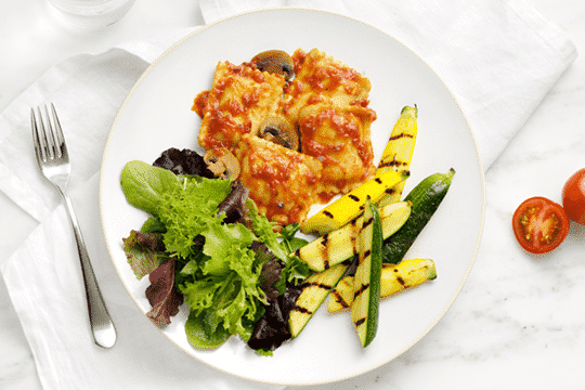 Cheese and Basil Ravioli in Tomato Sauce by HMR