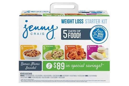 Jenny Craig Packaging