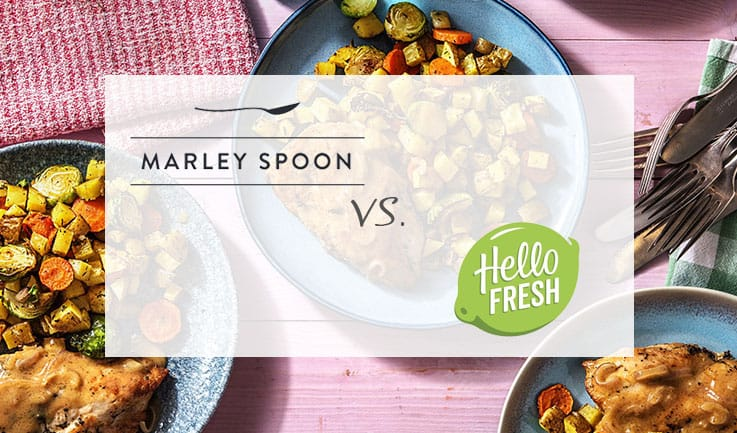 Marley Spoon and Hello Fresh comparison image