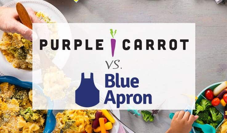 Our Comparison Of Purple Crrot and Blue Apron