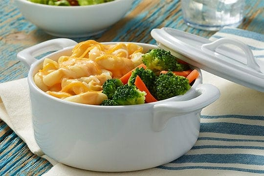Three Cheese Macaroni with Broccoli & Carrots By Jenny Craig
