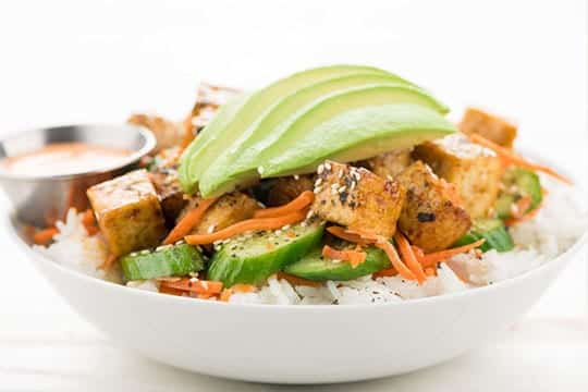 image of Avocado and Tofu Sushi Bowl by Home Chef