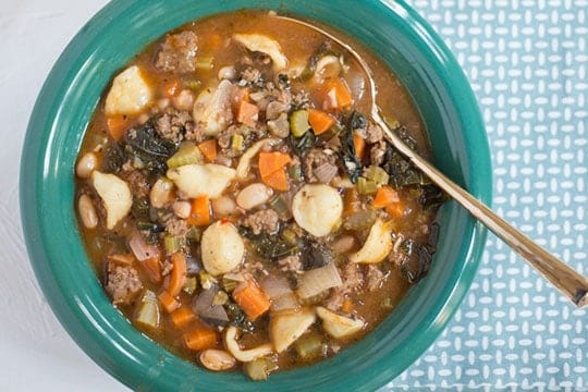 image of Hearty Minestrone with Beef, Kale & White Beans by PeachDish