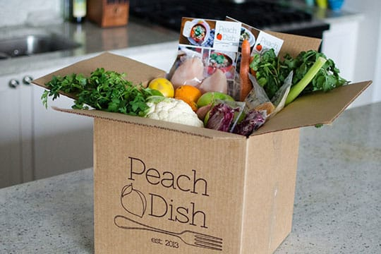 peachdish box package