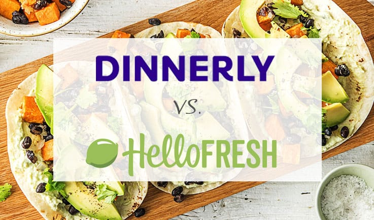 Dinnerly vs. Hello Fresh comparison image