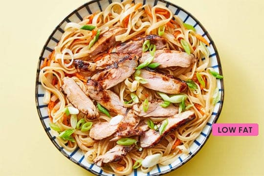 Teriyaki Pork Tenderloin with Asian Noodles Dinnerly recipe image