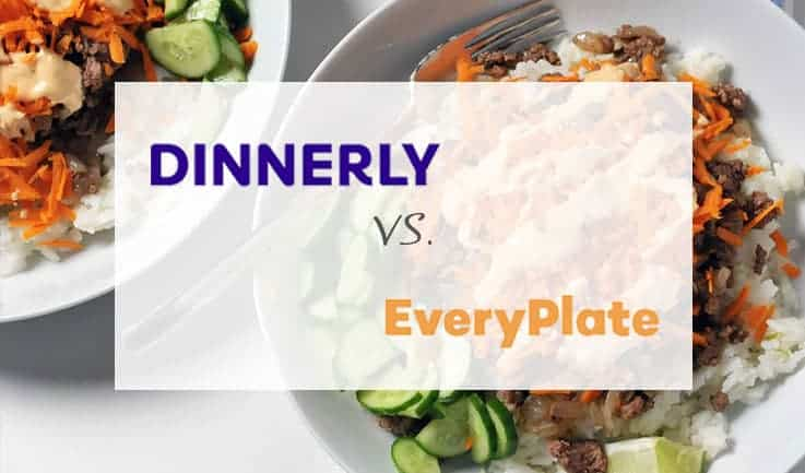 compared dinnerly and EveryPlate kits image