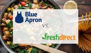 Blue Apron and FreshDirect comparison image
