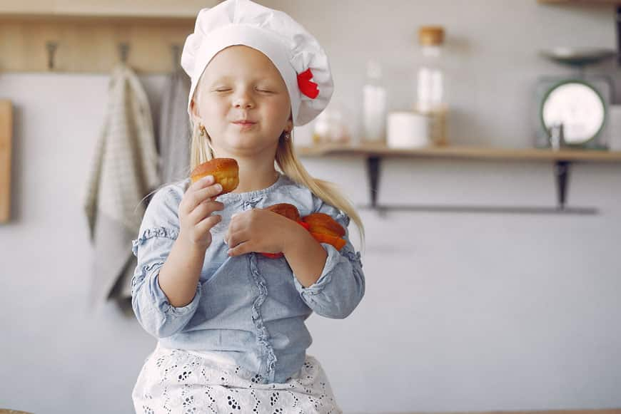 image of little chef in the kitchen