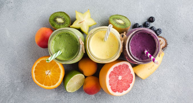 image of tasty smoothies