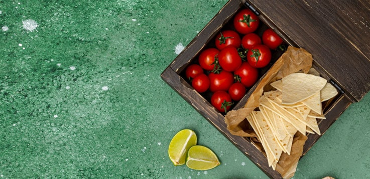 image of tortilla and tomatoes