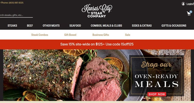 Kansas City Steak Company header image