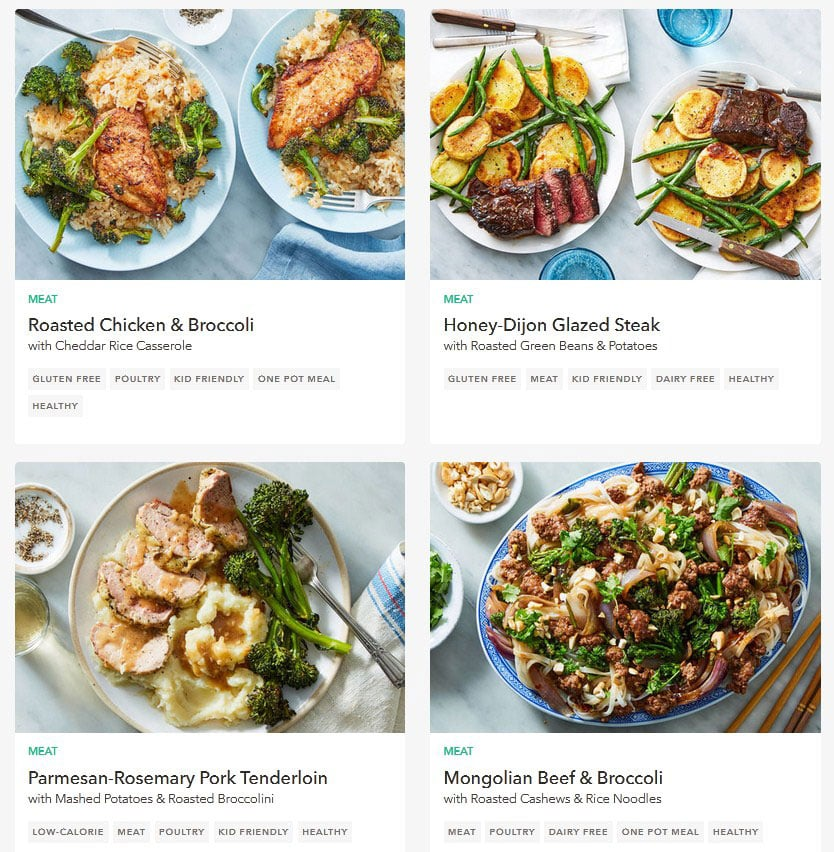 Martha & Marley Spoon meal plan