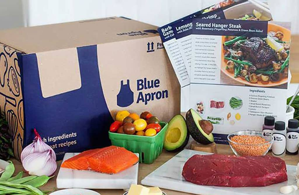image of blue apron box
