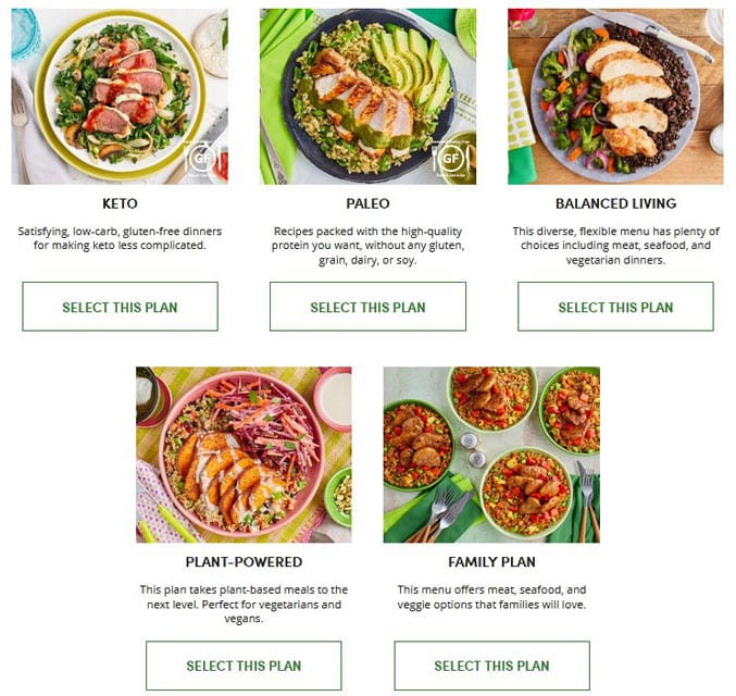 image of green chef meal plans