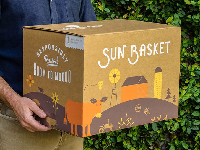 sunbasket box delivered