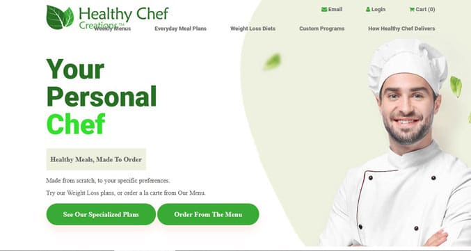 Healthy chef creations header image