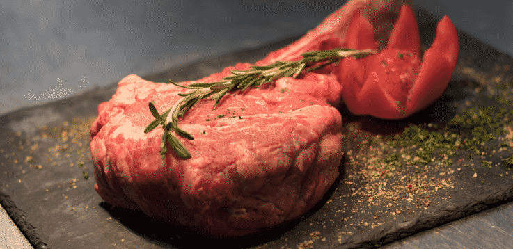 image of fresh meat with rosemary