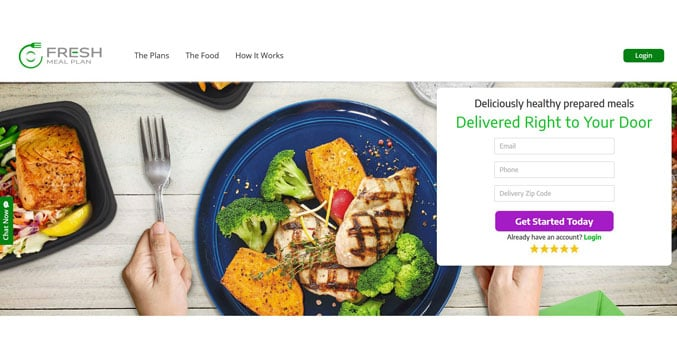 Fresh meal plan header image